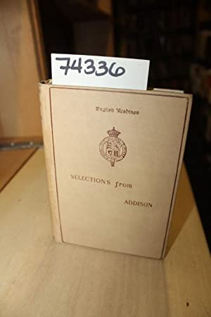 Selections from the Works of Joseph Addison book image