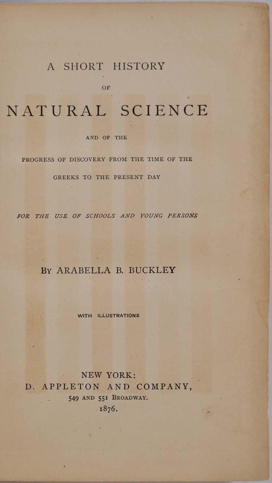 A Short History of Natural Science book image