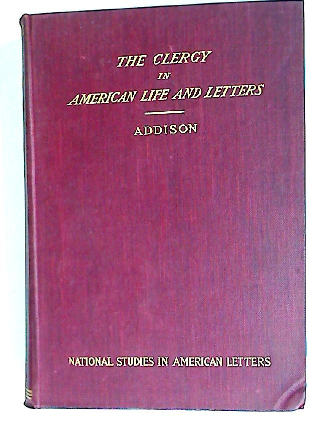 The Clergy in American Life and Letters book image