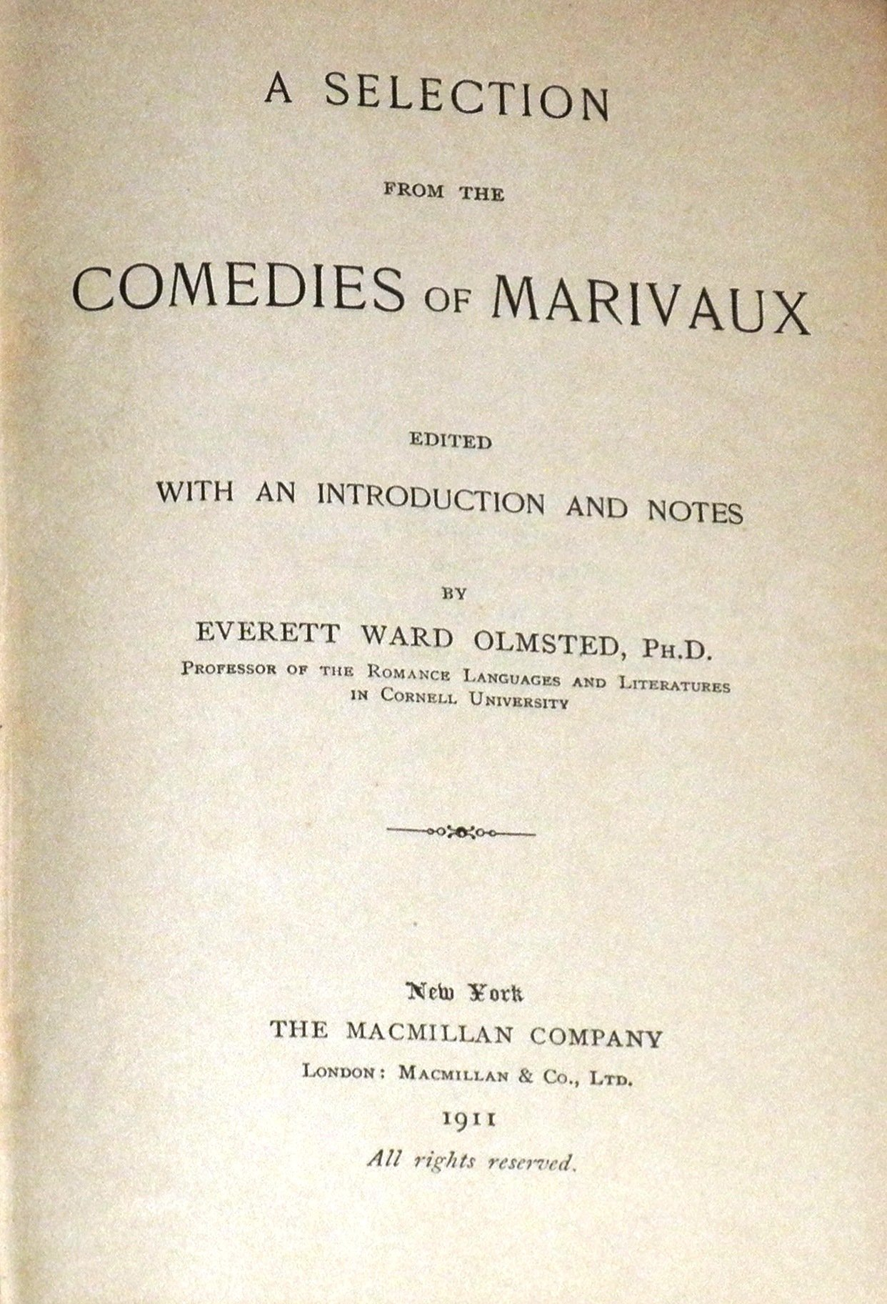 Marivaux' Comedies book image