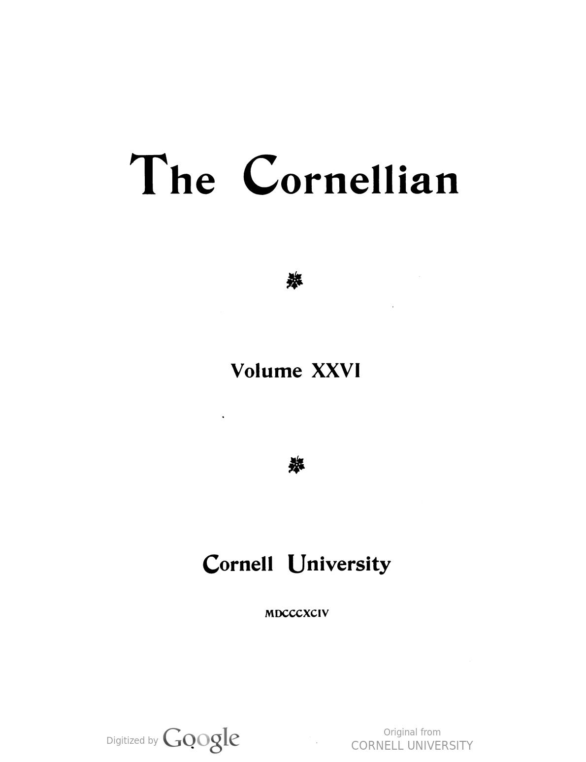The Cornellian, Vol 26 book image