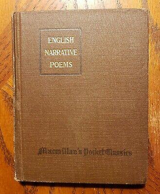 English Narrative Poems book image