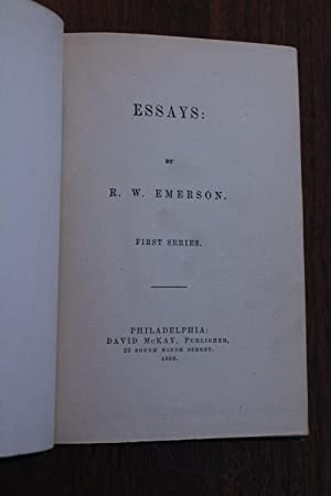 Essays:  First Series book image