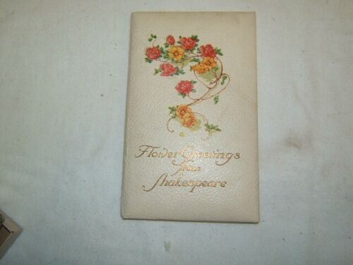 Flower Greetings from Shakespeare book image