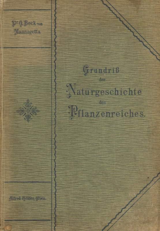 Grundriss Naturgeschichte des Pflanzenreiches book image