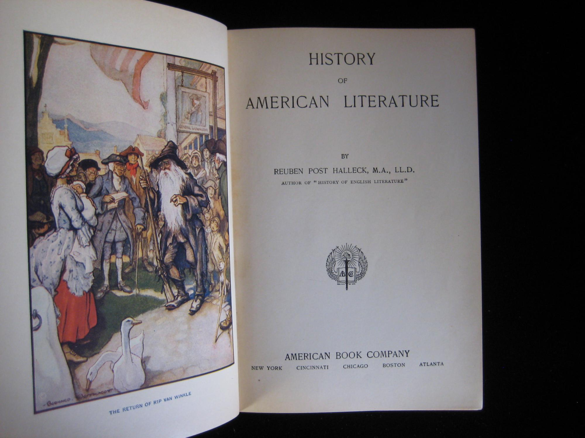 History of American Literature book image