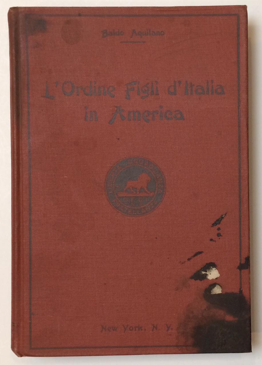 L'Ordine Figli d'Italia in America book image