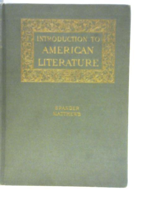 An Introduction to the Study of American Literature book image