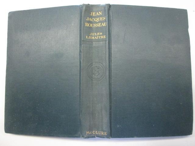 Jean Jacques Rousseau book image