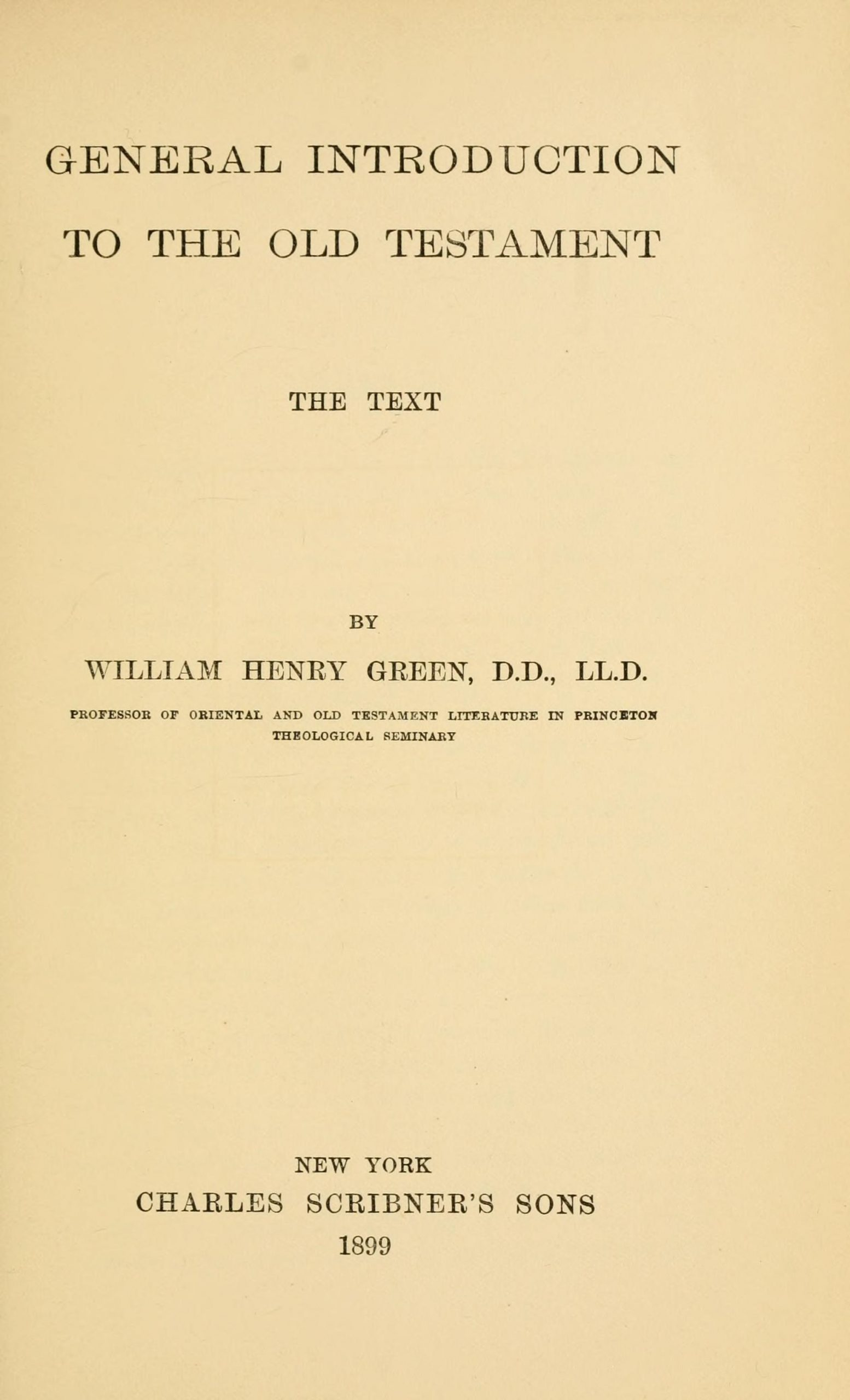 General Introduction to the Old Testament: The Text book image
