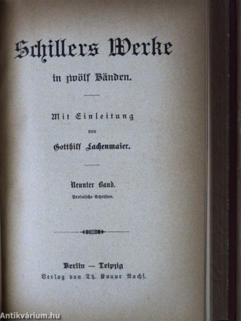 Schillers Werke in zwölf Bänden book image