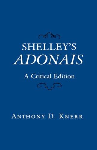 Shelley's Adonais: A Critical Edition book image