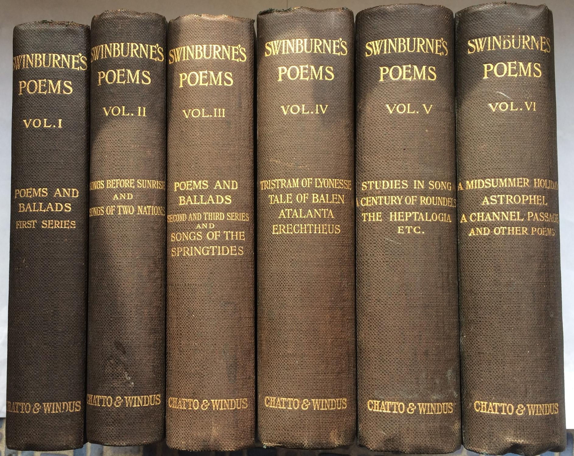 The Poems of Algernon Charles Swinburne in Six Volumes book image