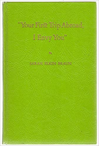 'Your First Trip Abroad, I Envy You' book image
