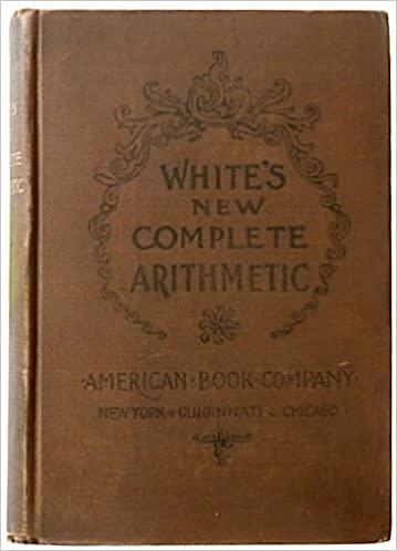 White's New Complete Arithmetic book image